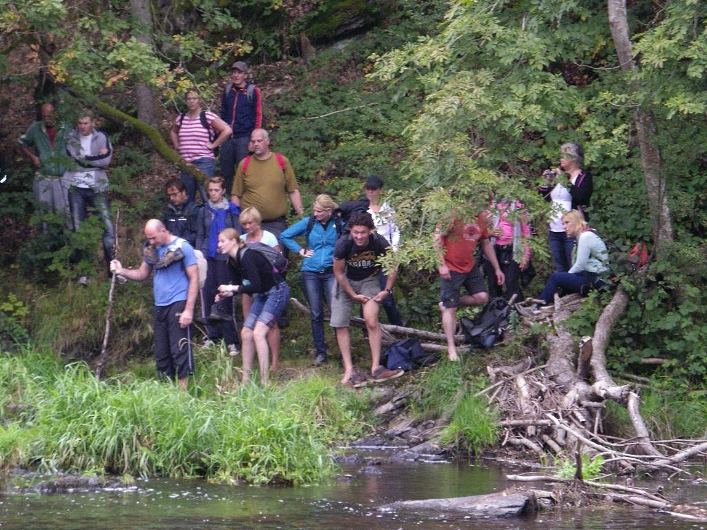 Tijdens de oriëntatie tocht kan er wel eens een rivier opduiken