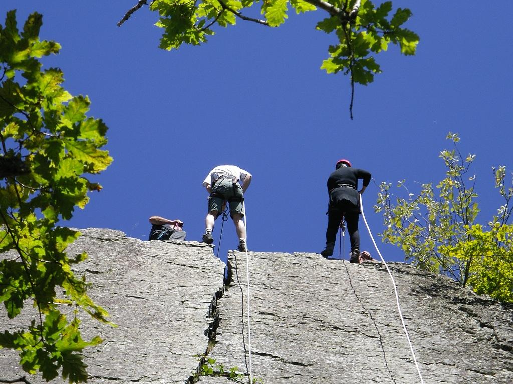 Abseilen op Le Herou, sensationeel uitzicht en een persoonlijke uitdaging